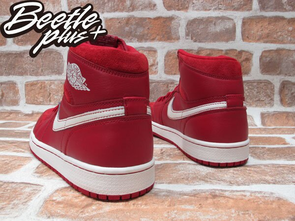 BEETLE PLUS NIKE AIR JORDAN 1 RETRO OG GYM RED 紅白 麂皮 全紅 籃球鞋 555088-601 2