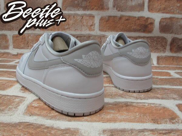 BEETLE PLUS NIKE AIR JORDAN 1 RETRO LOW OG 低筒 灰白 經典 原版 全白 男鞋 705329-100 2