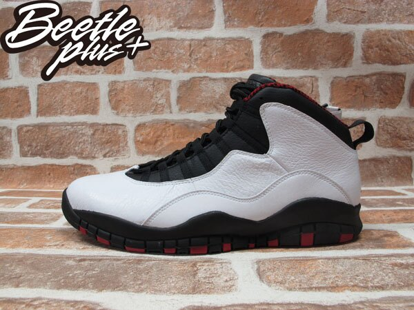 BEETLE PLUS 全新 NIKE AIR JORDAN 10 RETRO CHICAGO 白 黑 紅 芝加哥 公牛配色 BULLS 男鞋 310805-100 0