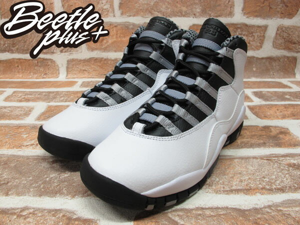 BEETLE PLUS 全新 NIKE AIR JORDAN 10 RETRO STEEL OG 十代 斑馬 白黑 復刻 皮革 310805-103 1