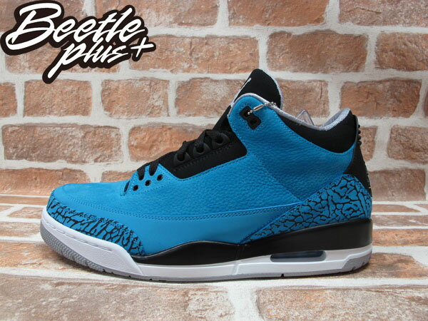 BEETLE PLUS 全新 NIKE AIR JORDAN III 3 RETRO POWDER BLUE 藍 爆裂紋 荔枝皮 阿凡達 男鞋 136064-406 0