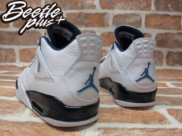 BEETLE PLUS NIKE AIR JORDAN 4 RETRO COLUMBIA 白藍 深藍 4代 荔枝皮 哥倫比亞 男生 喬丹 籃球鞋 314254-107 2