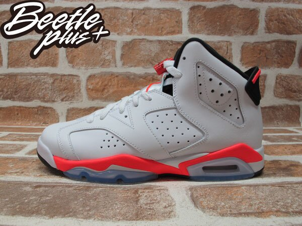 BEETLE PLUS 全新 NIKE AIR JORDAN 6 VI RETRO GS 白 橘紅 INFRARED 櫻木花道 紅外線 女鞋 384665-123