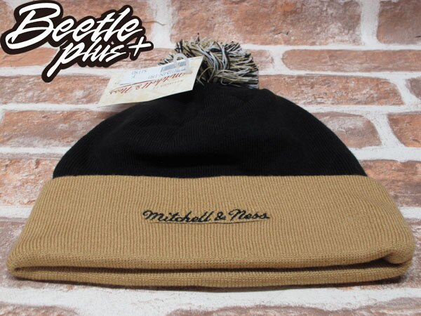 BEETLE PLUS 全新 MITCHELL&NESS NFL BEANIE LOGO NEW ZEALAND SAINTS 聖徒隊 毛線帽 黑 土黃 毛帽 MN-180 2