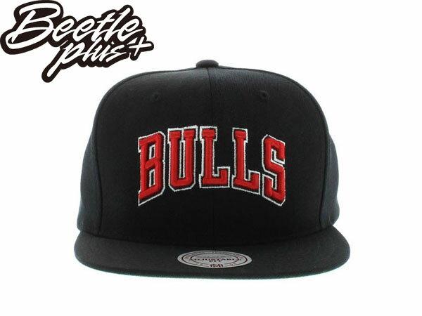 BEETLE PLUS 全新 MITCHELL&NESS NBA CHICAGO BULLS 芝加哥 公牛 文字 全黑 SNAPBACK 後扣棒球帽 MN-198 0