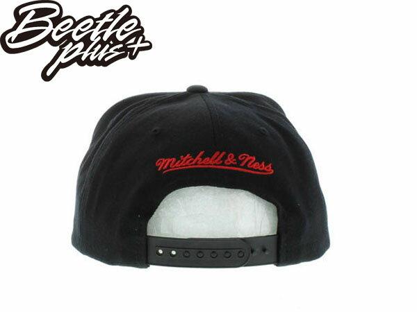 BEETLE PLUS 全新 MITCHELL&NESS NBA CHICAGO BULLS 芝加哥 公牛 文字 全黑 SNAPBACK 後扣棒球帽 MN-198 2