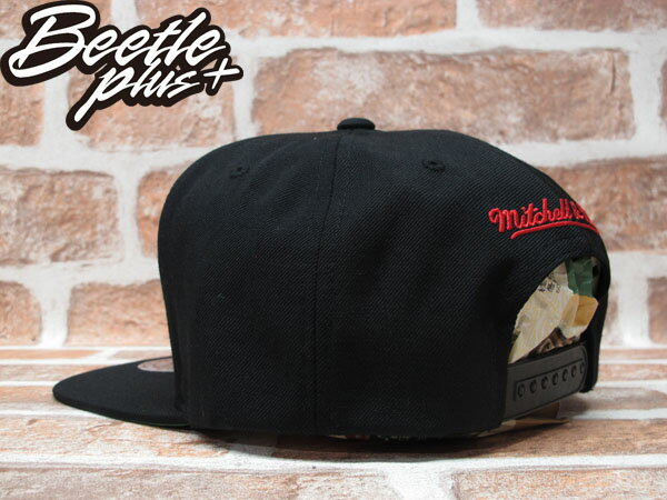 BEETLE PLUS 全新 MITCHELL&NESS NBA PORTLAND TRAILBLAZERS 波特蘭 拓荒者 文字 LOGO 全黑 SNAPBACK MN-203 1