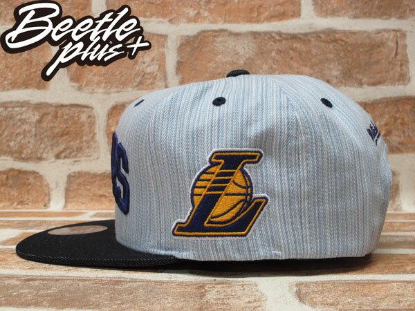BEETLE PLUS 全新 MITCHELL&NESS NBA LOS ANGELES 洛杉機 湖人隊 丹寧 牛仔布 SNAPBACK 後扣棒球帽 MN-205 1