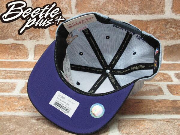 BEETLE PLUS 全新 MITCHELL&NESS NBA LOS ANGELES 洛杉機 湖人隊 丹寧 牛仔布 SNAPBACK 後扣棒球帽 MN-205 2