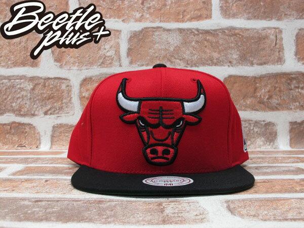 BEETLE PLUS 全新 MITCHELL&NESS NBA CHICAGO BULLS 芝加哥 公牛 XL LOGO 紅黑 SNAPBACK 後扣棒球帽 MN-208 0