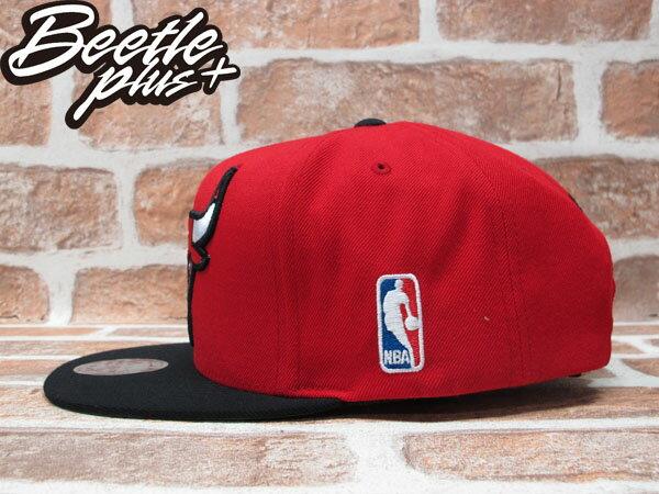 BEETLE PLUS 全新 MITCHELL&NESS NBA CHICAGO BULLS 芝加哥 公牛 XL LOGO 紅黑 SNAPBACK 後扣棒球帽 MN-208 1