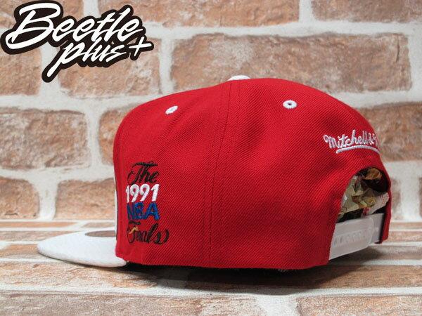 BEETLE PLUS 全新 MITCHELL&NESS NBA CHICAGO BULLS 芝加哥 公牛 文字 球衣 網布 紅白 SNAPBACK MN-210 1