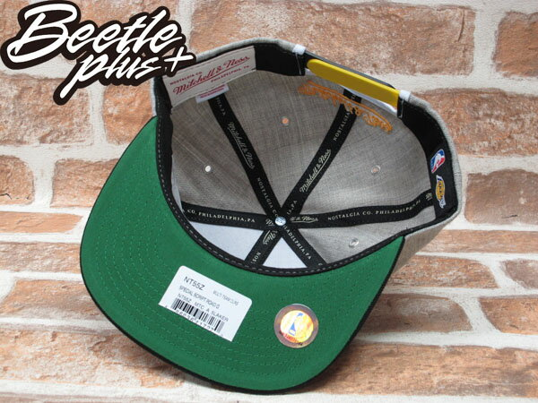 BEETLE PLUS 全新 MITCHELL&NESS NBA LOS ANGELES LAKERS 洛杉磯 湖人 電繡 草寫字 灰黑 KOBE SNAPBACK 後扣 MN-224 2