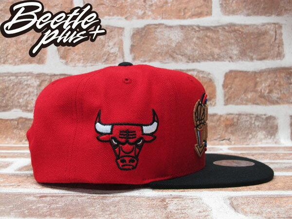 BEETLE PLUS MITCHELL&NESS NBA 芝加哥 公牛 BULLS 1997 總冠軍 FINALS LOGO 紅黑 SNAPBACK 後扣棒球帽 MN-242 1