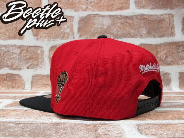 BEETLE PLUS MITCHELL&NESS NBA 芝加哥 公牛 BULLS 1997 總冠軍 FINALS LOGO 紅黑 SNAPBACK 後扣棒球帽 MN-242 2