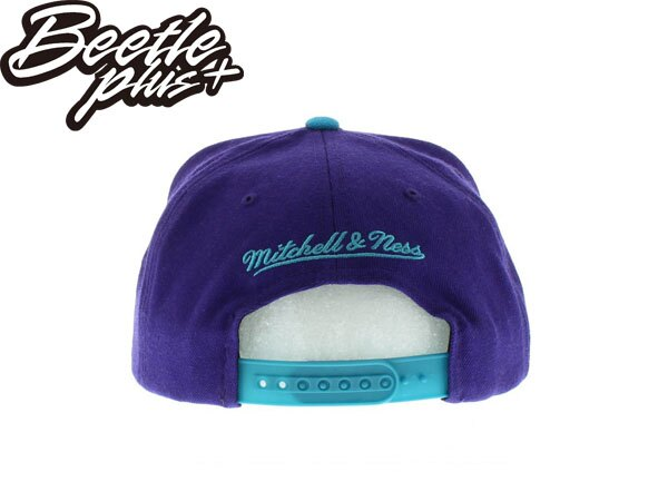 BEETLE PLUS 全新 MITCHELL&NESS NBA 夏洛特 黃蜂 HORNETS LOGO 紫綠 灰 SNAPBACK 後扣棒球帽 MN-279 2