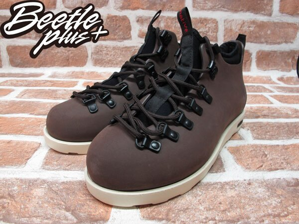 BEETLE PLUS 西門町經銷 全新 加拿大品牌 NATIVE FITZSIMMONS BOOTS 超輕量 登山靴 咖啡 BROWN GLM06-245 1
