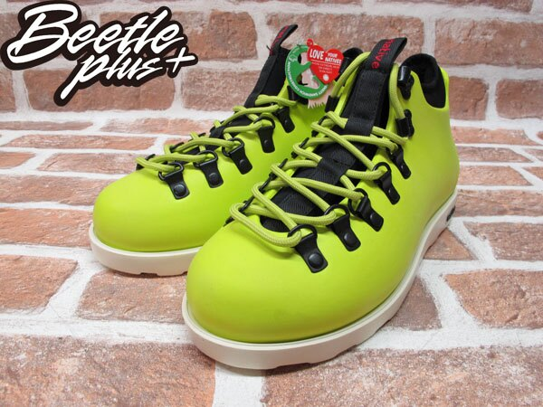 BEETLE PLUS 西門町專賣店 全新 NATIVE FITZSIMMONS BOOTS 登山靴 FIZZ GREEN 螢光黃 GLM06-358 1