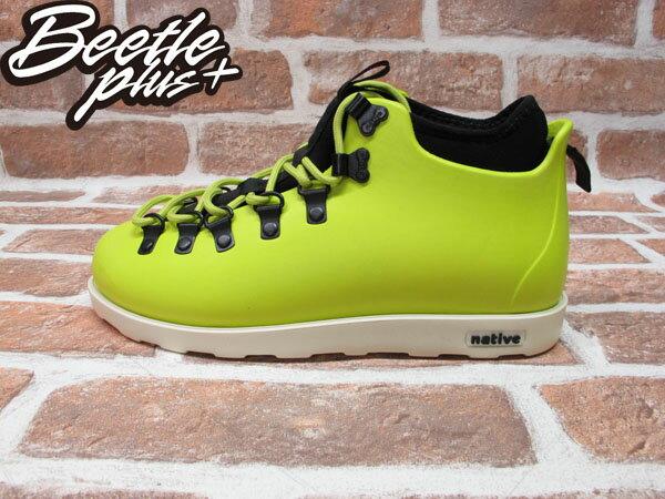 BEETLE PLUS 西門町專賣店 全新 NATIVE FITZSIMMONS BOOTS 登山靴 FIZZ GREEN 螢光黃 GLM06-358