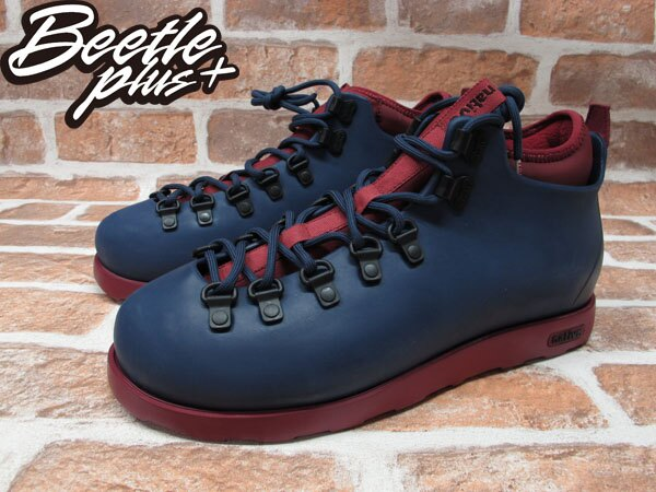 BEETLE PLUS 全新 NATIVE FITZSIMMONS BOOTS 登山靴 深藍 酒紅 GLM06-477 1