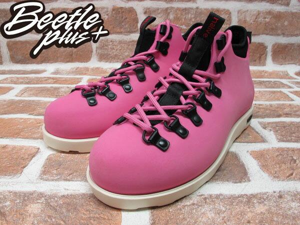 BEETLE PLUS 西門町經銷 全新 加拿大品牌 NATIVE FITZSIMMONS BOOTS 超輕量 登山靴 HP PINK VIVI 粉紅 女鞋 GLM06-690 1