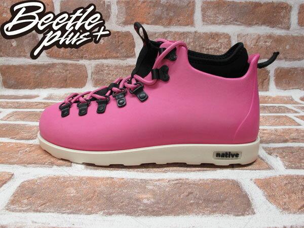 BEETLE PLUS 西門町經銷 全新 加拿大品牌 NATIVE FITZSIMMONS BOOTS 超輕量 登山靴 HP PINK VIVI 粉紅 女鞋 GLM06-690 0