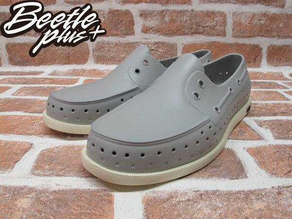 BEETLE PLUS 西門町專賣 全新 加拿大 NATIVE HOWARD 奶油底 灰 GREY 帆船鞋 GLM11-060 1
