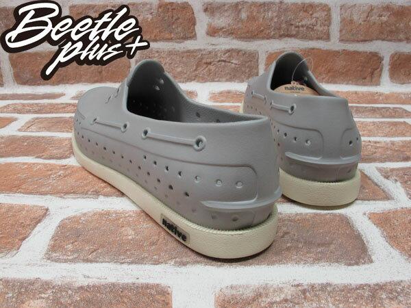 BEETLE PLUS 西門町專賣 全新 加拿大 NATIVE HOWARD 奶油底 灰 GREY 帆船鞋 GLM11-060 2