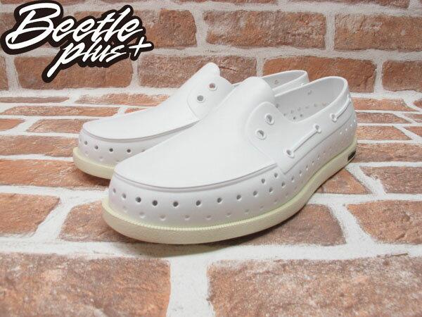 BEETLE PLUS 西門町專賣 全新 2013 加拿大 NATIVE SHOES HOWARD 奶油底 白色 帆船鞋 GLM11-110 1