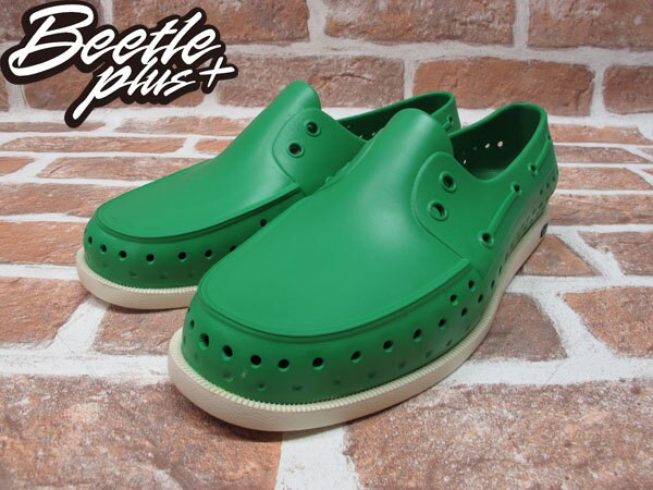 BEETLE PLUS 全新 現貨 NATIVE HOWARD PICNIC GREEN 雷根 呼吸 蔬菜綠 帆船鞋 奶油底 GLM11-360 1