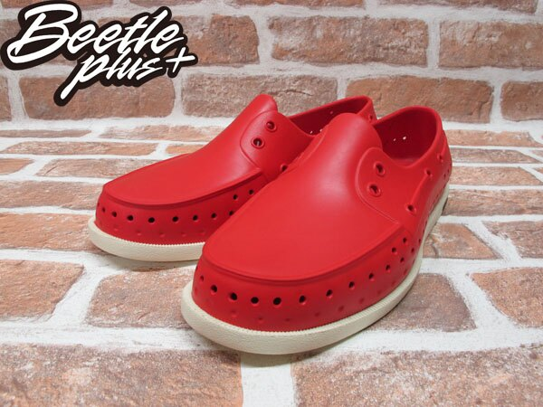 BEETLE PLUS 西門町專賣 全新 2011 加拿大 NATIVE HOWARD 奶油底 紅色 RED 帆船鞋 GLM11-642 1