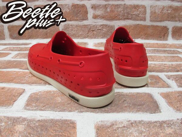 BEETLE PLUS 西門町專賣 全新 2011 加拿大 NATIVE HOWARD 奶油底 紅色 RED 帆船鞋 GLM11-642 2
