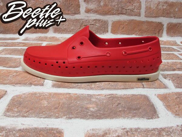 BEETLE PLUS 西門町專賣 全新 2011 加拿大 NATIVE HOWARD 奶油底 紅色 RED 帆船鞋 GLM11-642 0