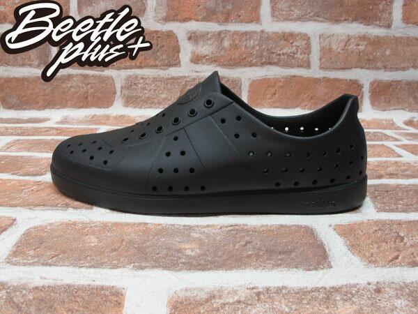 BEETLE PLUS 全新 西門町經銷 現貨 NATIVE HUGO JIFFY BLACK 全黑 輕量 便鞋 GLM23-079 0