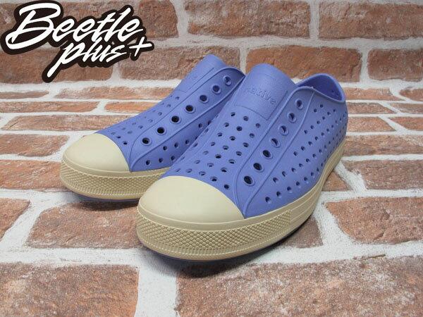 BEETLE PLUS 西門町經銷 現貨 NATIVE JEFFERSON 超輕量 便鞋 PASTRY PURPLE 淺紫 薰衣草紫 奶油頭 GLM01-548 1