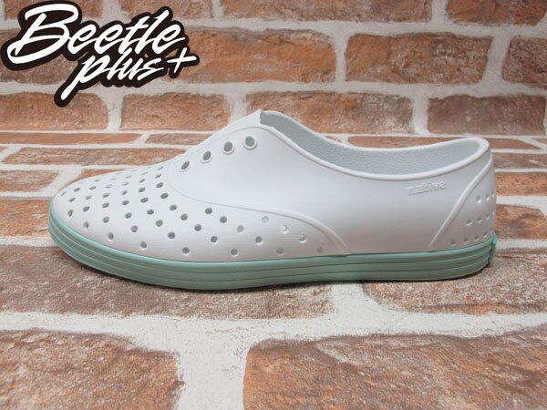 BEETLE PLUS 全新 NATIVE SHOES JERICHO SHELL WHITE ISLAND GREEN 白 湖水綠 馬卡龍 女鞋 GLM04W-139 0