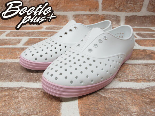 BEETLE PLUS 西門町 全新 NATIVE JERICHO SHELL WHITE WITH PLIE PINK 白 粉紅 馬卡龍 女鞋 GLM04W-140 1