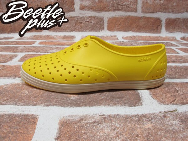 西門町 BEETLE PLUS 全新 NATIVE JERICHO CRAYON YELLOW 蠟筆 黃 超輕 女鞋 GLM04W-752 0