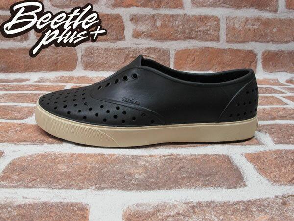 BEETLE PLUS 西門町實體店面 全新 現貨 NATIVE MILLER JIFFY BLACK 黑 便鞋 輕量鞋 奶油底 GLM02-001