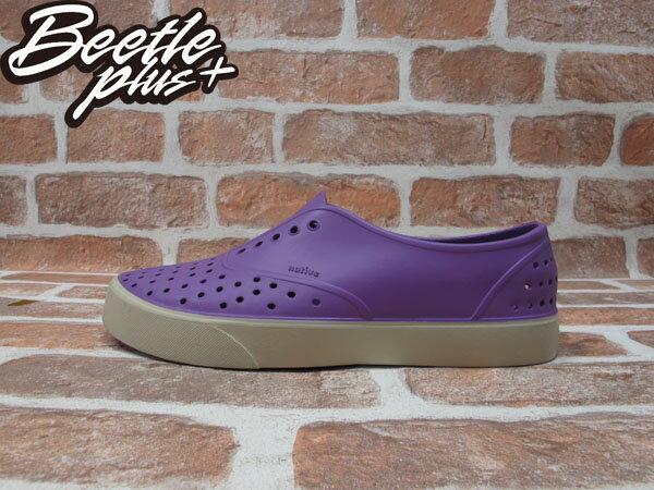 西門町 BEETLE PLUS 全新 現貨 加拿大 NATIVE MILLER 超輕量 便鞋 葡萄紫 GOSSIP PURRLE 奶油底 GLM02-GP 0