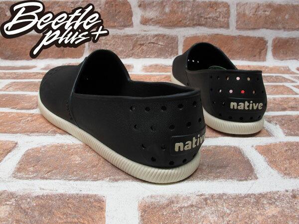 BEETLE PLUS 西門町專賣店 全新 NATIVE VERONA 水手鞋 超輕量 黑白 JIFFY BLACK GLM18-001 2