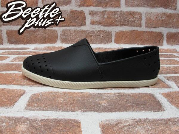BEETLE PLUS 西門町專賣店 全新 NATIVE VERONA 水手鞋 超輕量 黑白 JIFFY BLACK GLM18-001 0