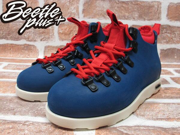 西門町專賣 BEETLE PLUS 全新 加拿大 NATIVE FITZSIMMONS BOOTS 藍紅 超輕量 登山靴 GLM06-962 1