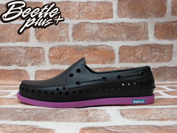 BEETLE PLUS 西門町專賣 NATIVE HOWARD JIFFY BLACK PURPLE 黑紫 葡萄 雙色 帆船鞋 GLM11-988