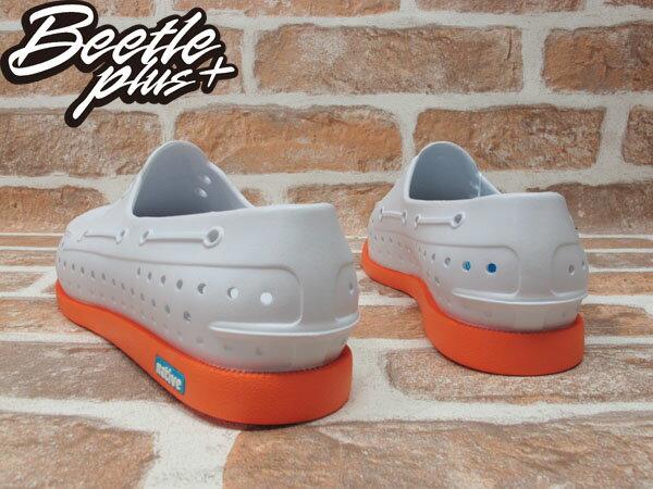 BEETLE PLUS 2014 NATIVE HOWARD SHELL WHITE/CANTALOUPE PINK 白 亮橘 雙色 輕量 帆船鞋 GLM11-128 1