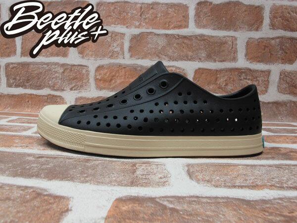 BEETLE PLUS 西門町經銷 現貨 2014 NATIVE JEFFERSON JIFFY BLACK 黑白 奶油頭 便鞋 GLM01-001 0
