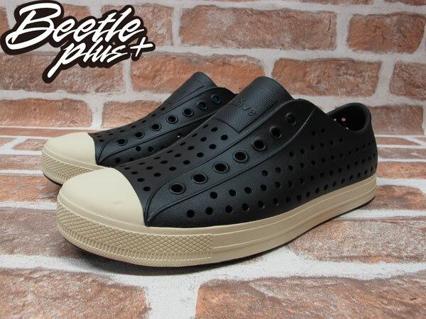 BEETLE PLUS 西門町經銷 現貨 2014 NATIVE JEFFERSON JIFFY BLACK 黑白 奶油頭 便鞋 GLM01-001 1