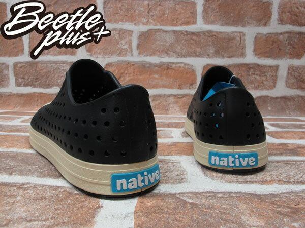 BEETLE PLUS 西門町經銷 現貨 2014 NATIVE JEFFERSON JIFFY BLACK 黑白 奶油頭 便鞋 GLM01-001 2