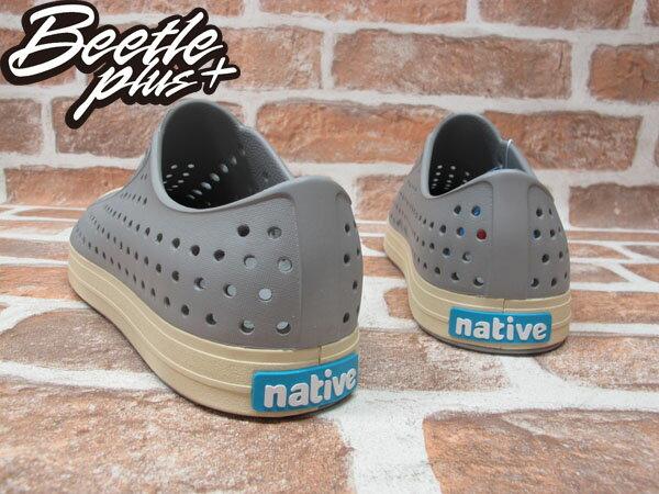 BEETLE PLUS 西門町經銷 現貨 2014 全新 NATIVE JEFFERSON 淺灰色 PIGEON GRAY 奶油頭 便鞋 GLM01-060 2