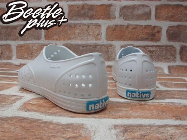 BEETLE PLUS 全新 2015 NATIVE JERICHO SWS 限量 全白 白色 藍標 超輕量 女鞋 GLM04W-1999 2